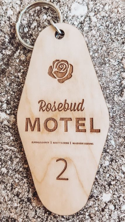 Rosebud Motel Retro Sustainable Keychain