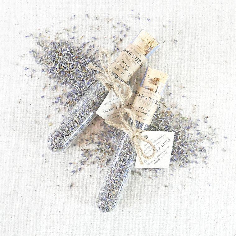 French Lavender - Herbal Tea - Single Glass Tube
