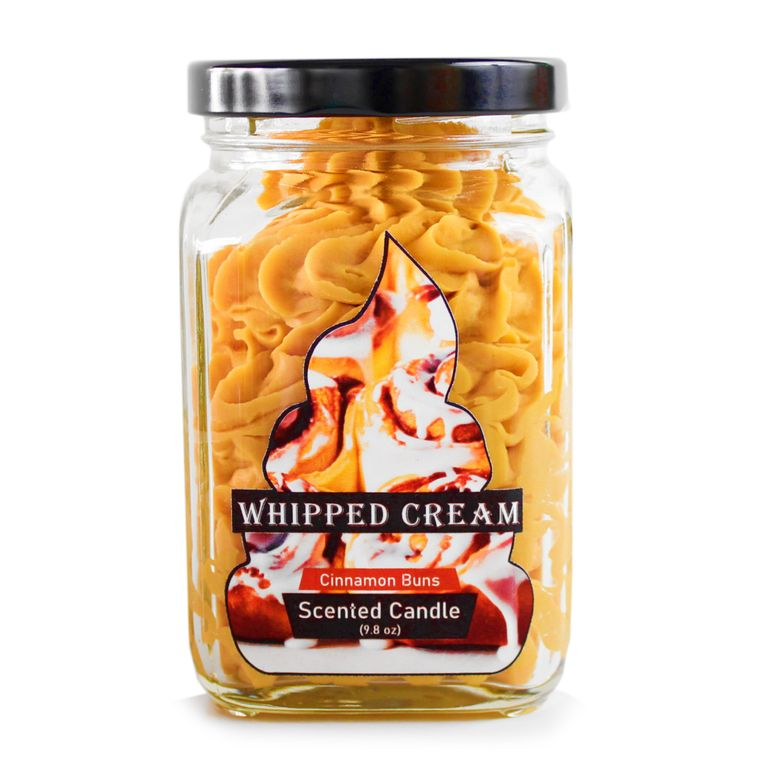 Cinnamon buns Whipped Cream Brown candle