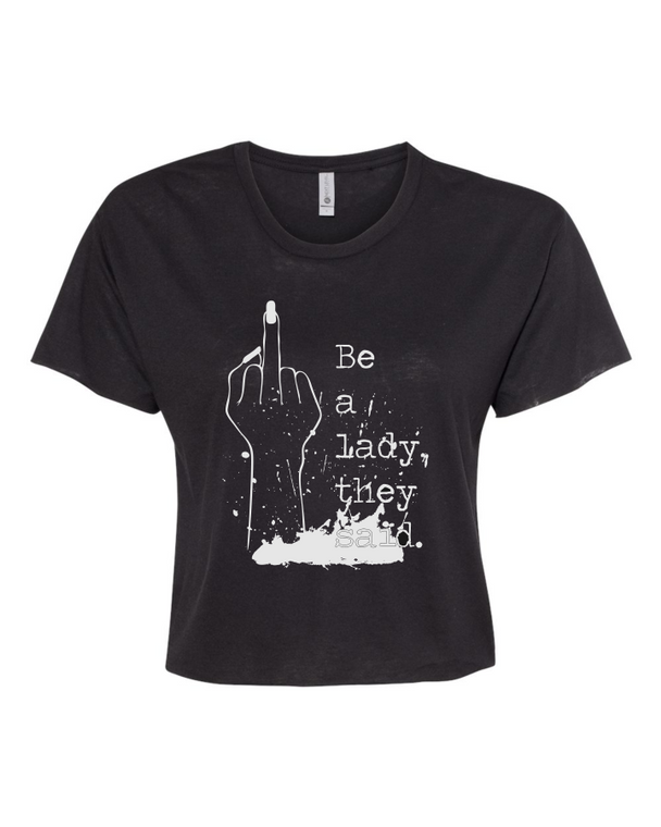 Be a Lady Crop Top LARGE