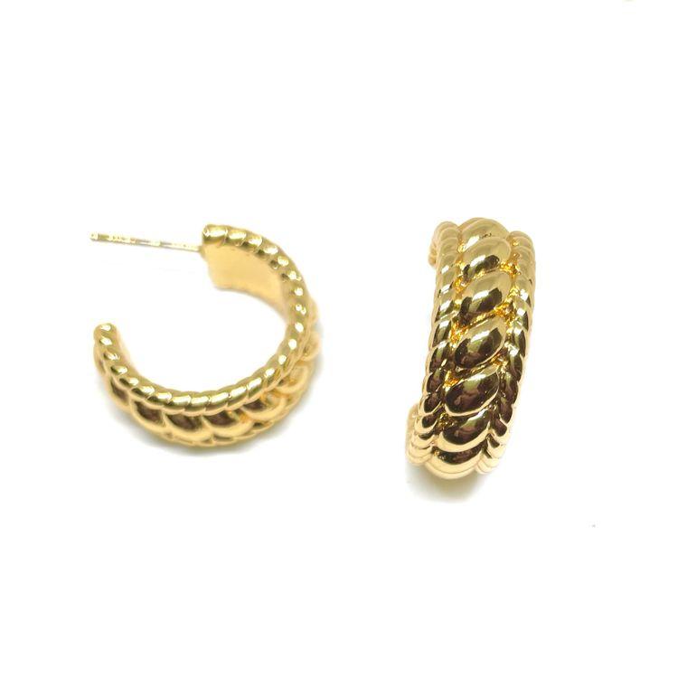 Roman Gold Hoops