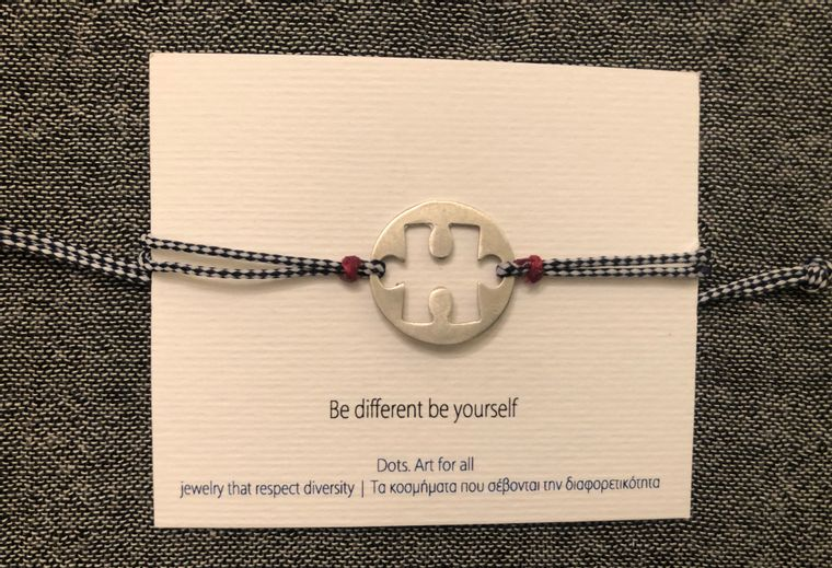 Sterling Silver Bracelet in Sign Language (Be Different, Be Yourself)