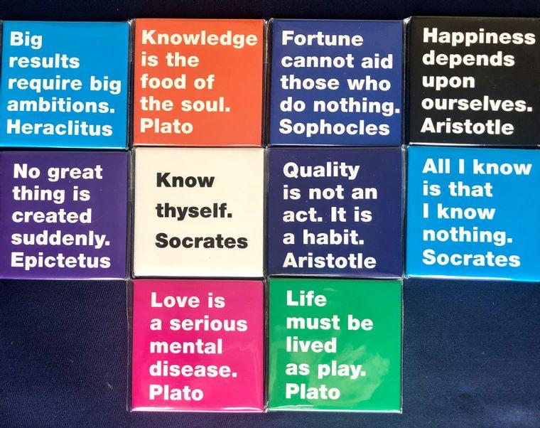 Greek Philosophy Magnets - Made in Greece