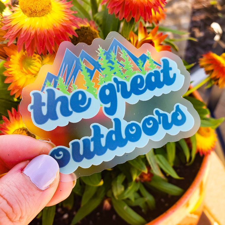 The Great Outdoors Clear Sticker