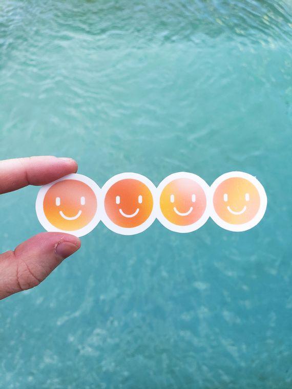 Row of Smileys Sticker