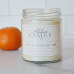 Basil & Mandarin Lime Soy Candle by Abboo Candle Co