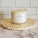 Oakmoss & Amber 3 Wick Soy Candle by Abboo Candle Co