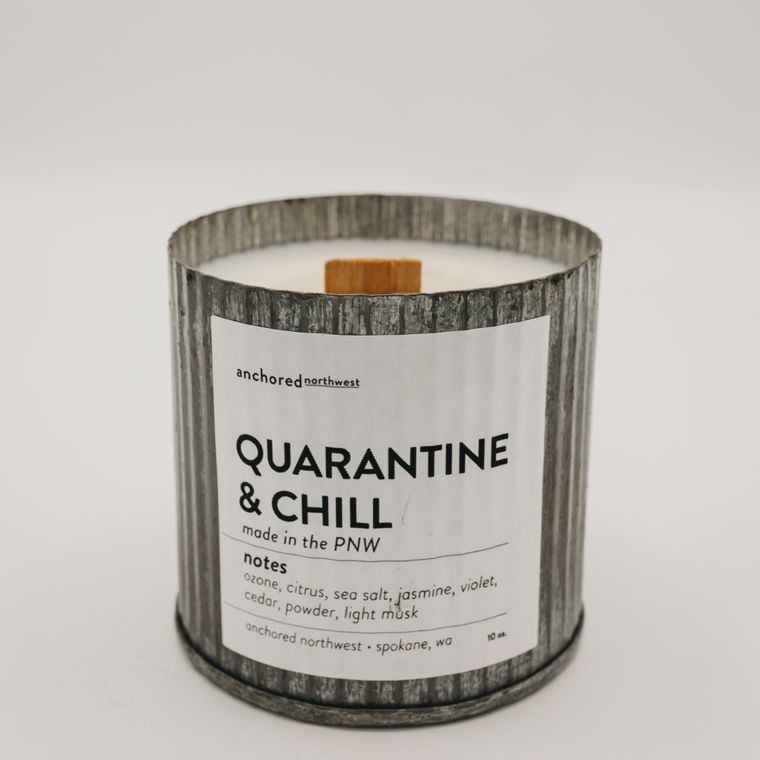 Rustic Vintage Soy Candle - Quarantine & Chill (10oz)