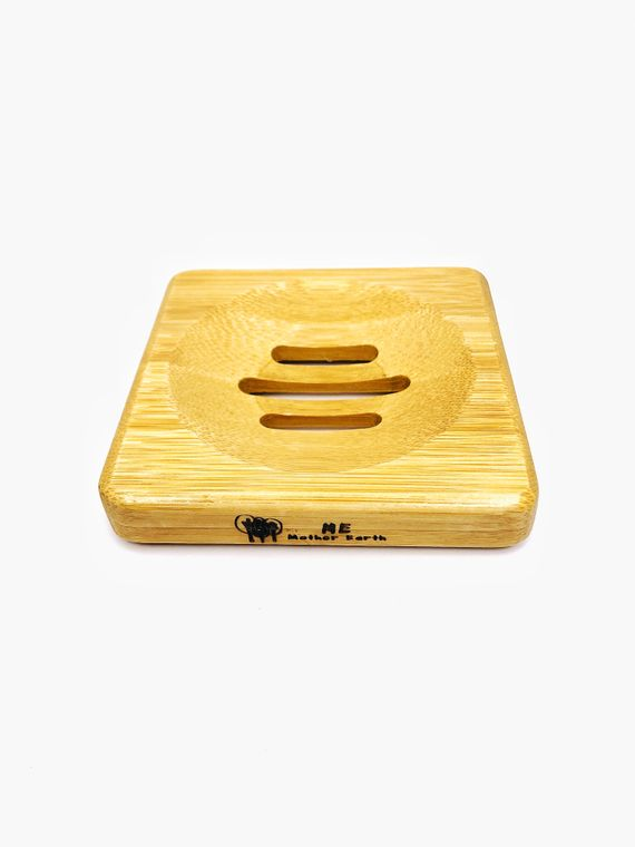 Square Bamboo Soap Dish