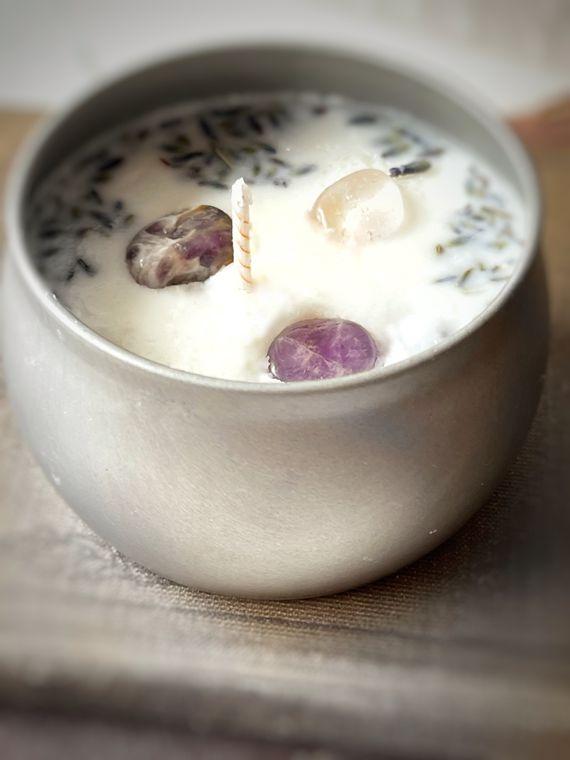 Amethyst & Lavender Candle and Stash Jar