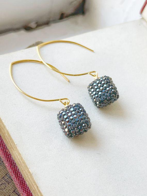 Crystal Cushion Earrings