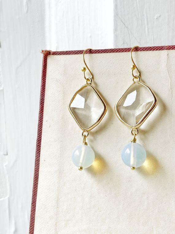 Glass & Opalite Earrings
