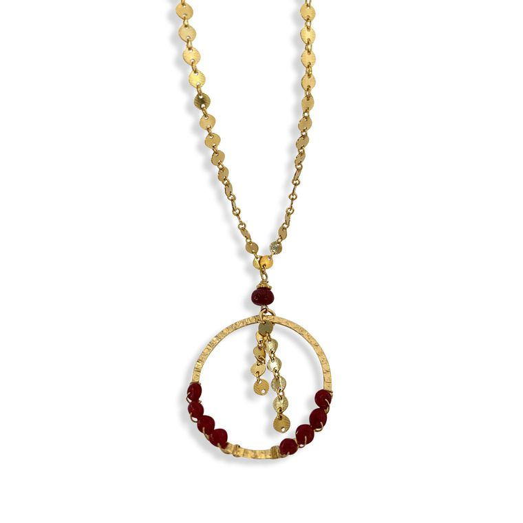 Red Ruby I Love You Necklace