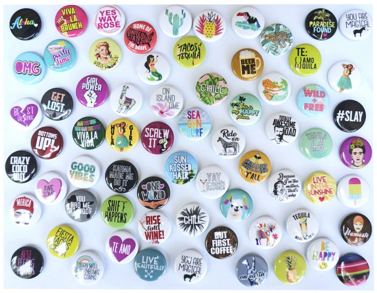 """Assorted Button Tin of 200 1"""" Buttons"""