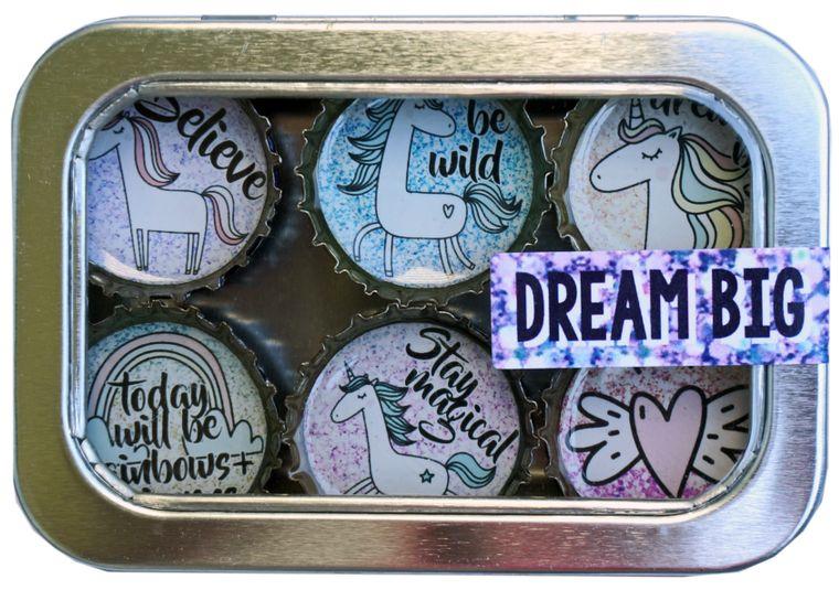 Unicorn Dream Big Magnet - Six Pack