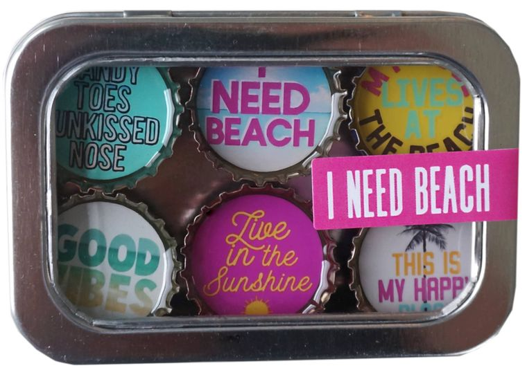 I Need Beach Magnet - Six Pack