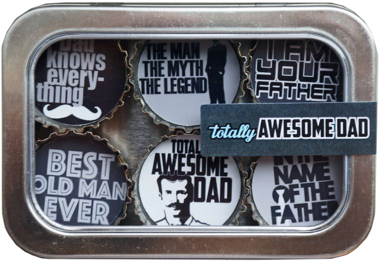 Totally Awesome Dad Magnet - Six Pack
