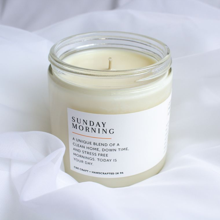 Sunday Morning Scented Soy Wax Candle
