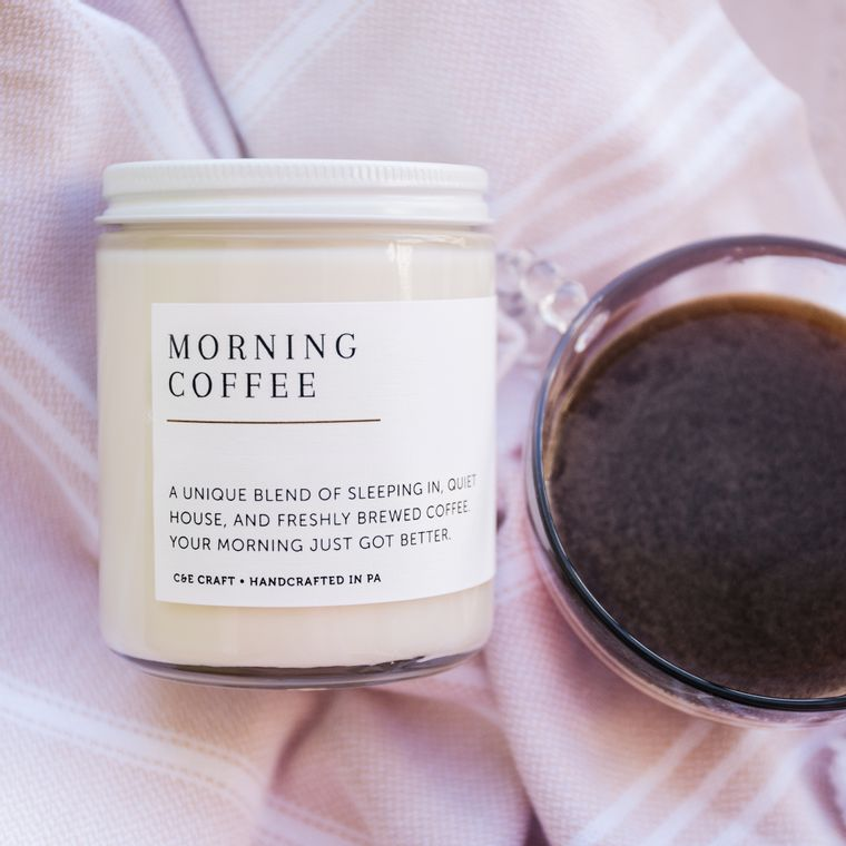 Morning Coffee Scented Soy Wax Candle