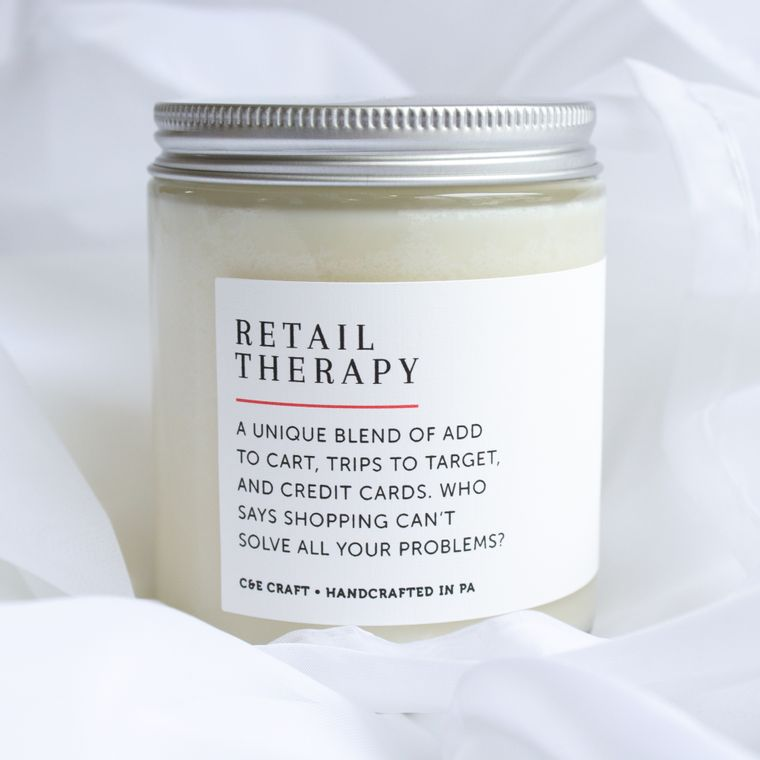 Retail Therapy Scented Soy Wax Candle