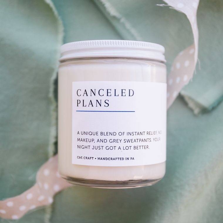Canceled Plans Scented Soy Wax Candle