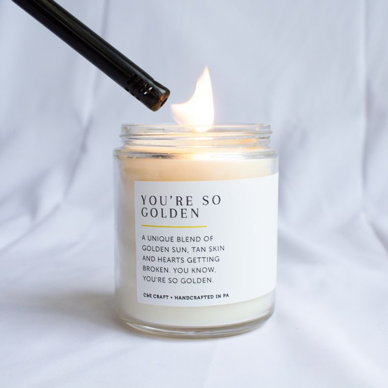 You're So Golden Scented Soy Wax Candle