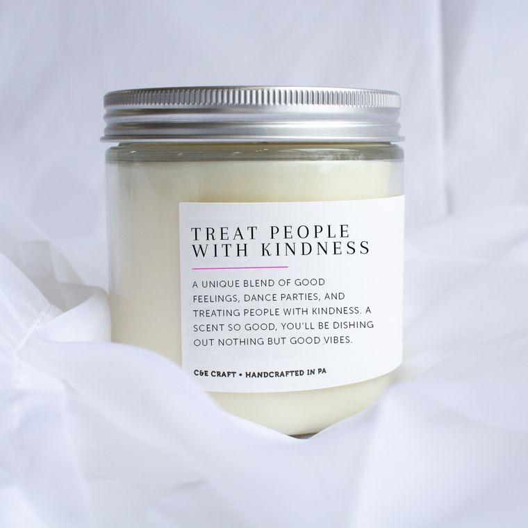 Treat People with Kindness Scented Soy Wax Candle