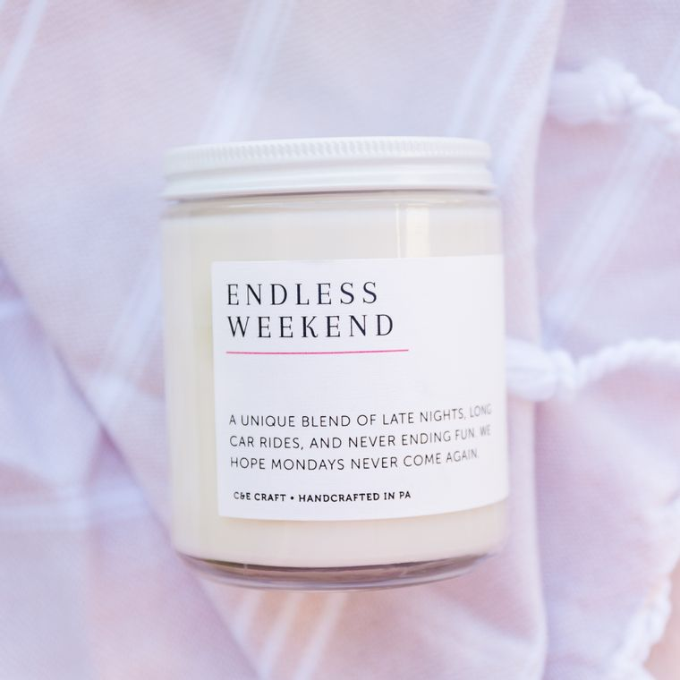 Endless Weekend Scented Soy Wax Candle