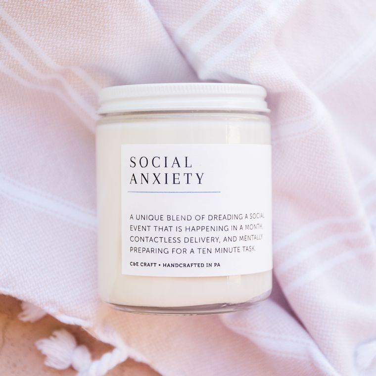 Social Anxiety Scented Soy Wax Candle