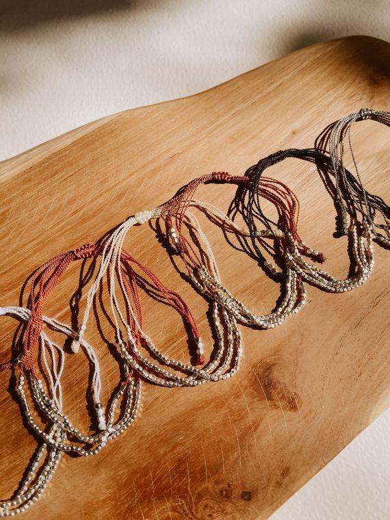 Terra Layered Bracelets in Silver