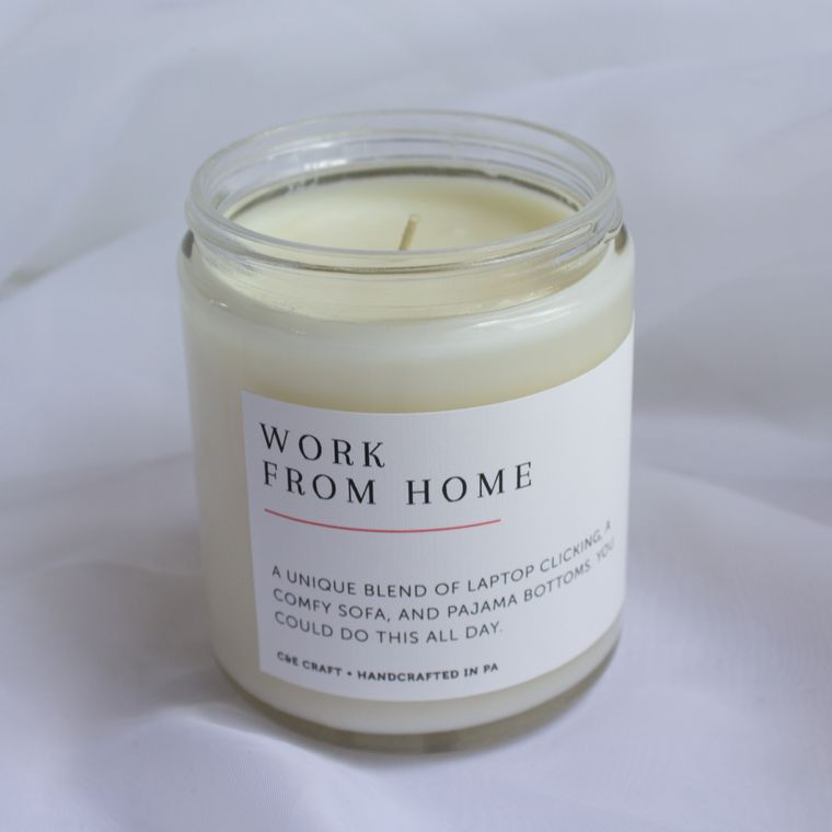Work From Home Scented Soy Wax Candle