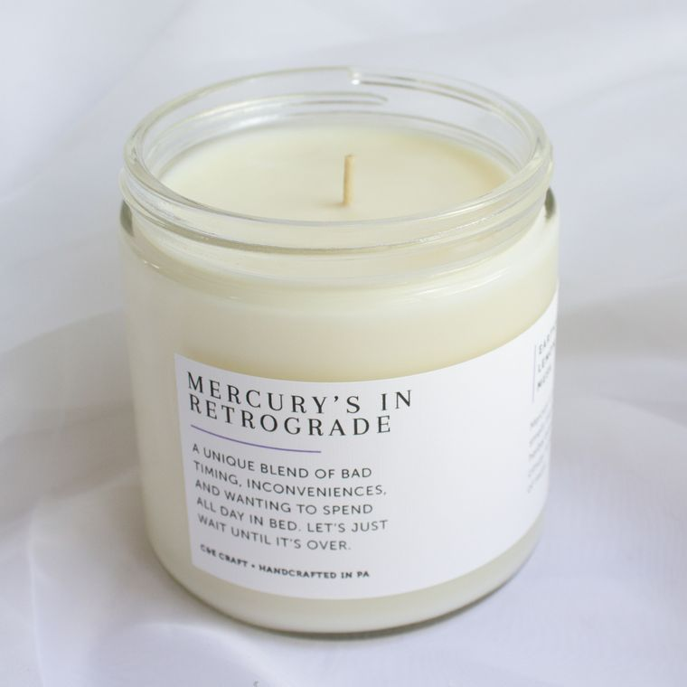 Mercury's in Retrograde Scented Soy Wax Candle