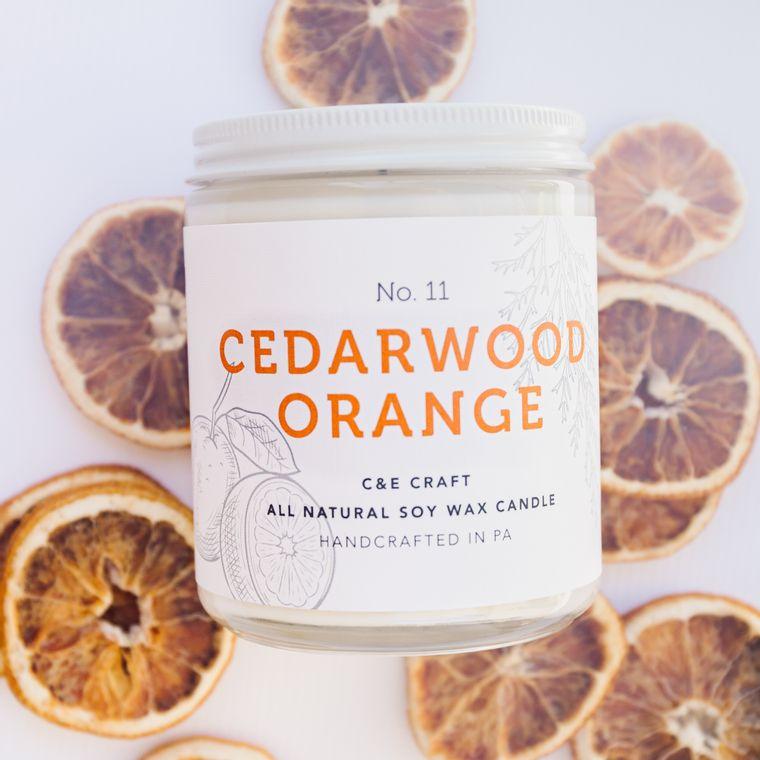 Cedarwood Orange Scented Soy Wax Candle