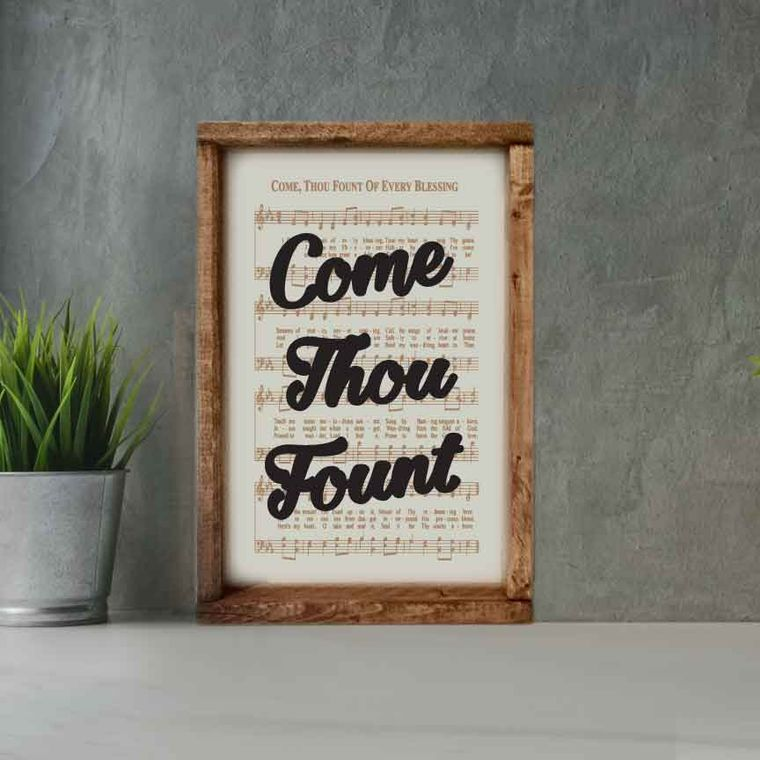 Engraved Hymn Come Thou Fount