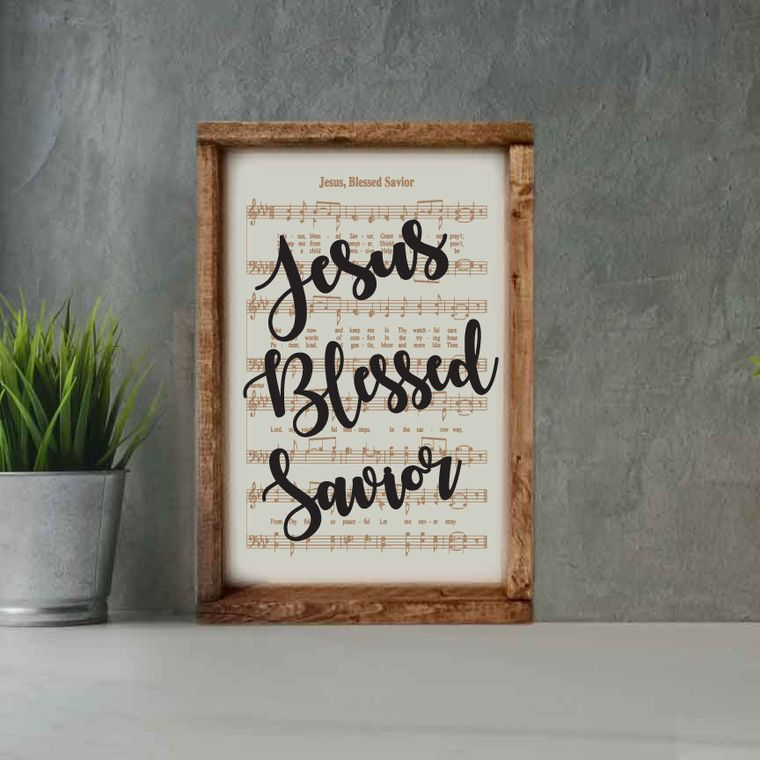 Engraved Hymn Jesus Blessed Savior