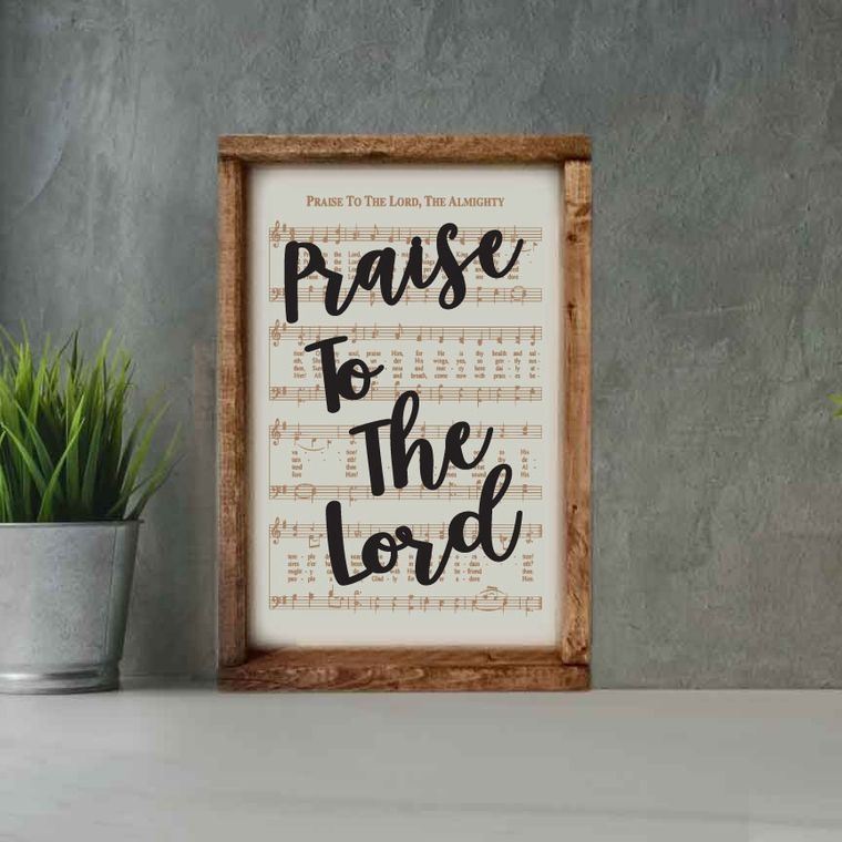 Engraved Hymn Praise to the Lord