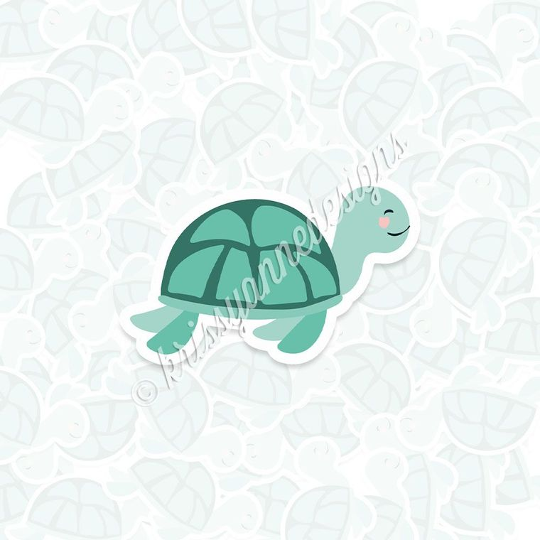 KAD Vinyl Decal - Green Sea Turtle