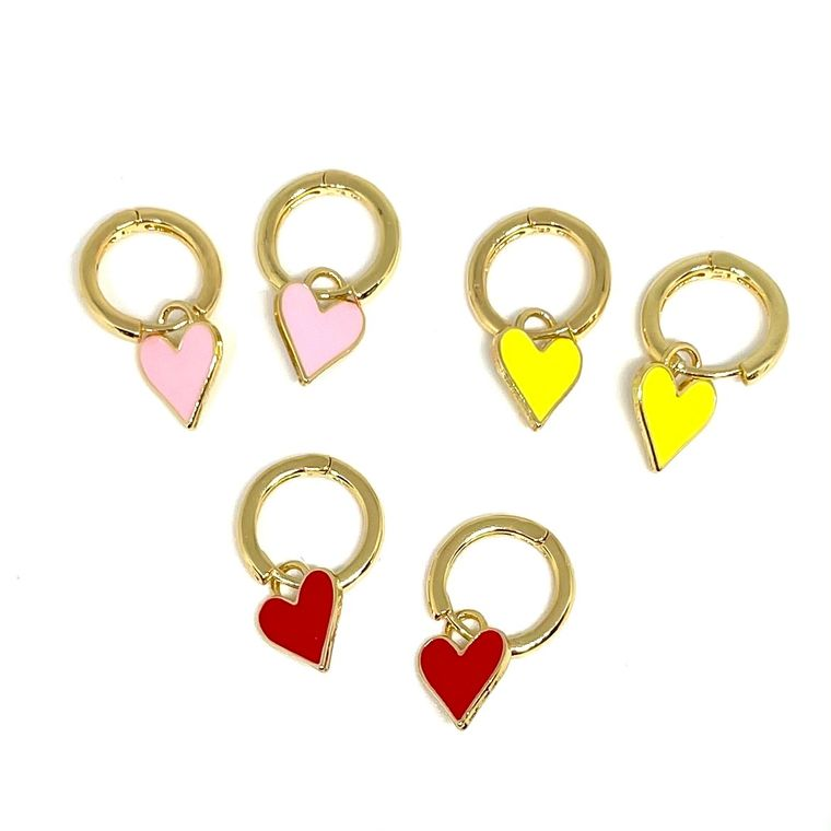 Colorful Heart Hoops