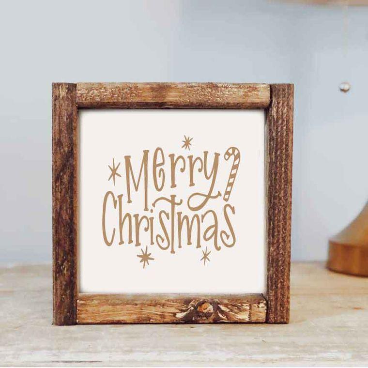 7 x 7 Merry Christmas Framed Sign