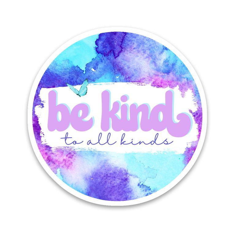 Sticker Be Kind Tie Dye