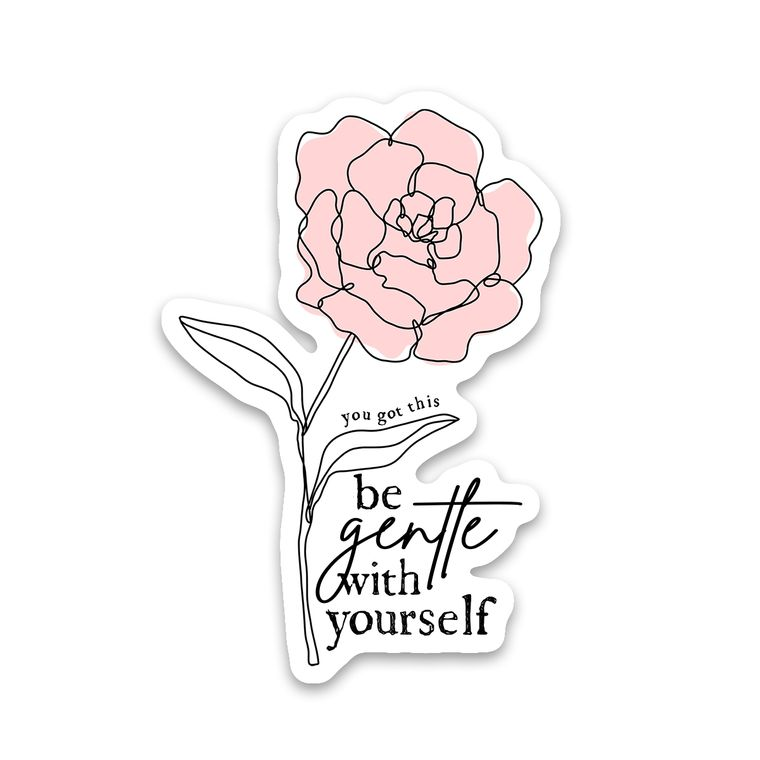 Sticker Be Gentle With Yourself Flower