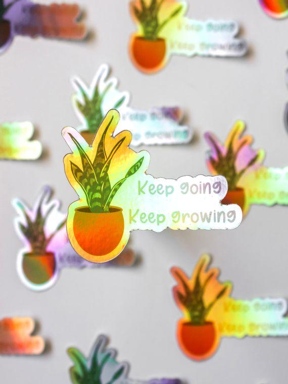 Keep Going Hologram Sticker