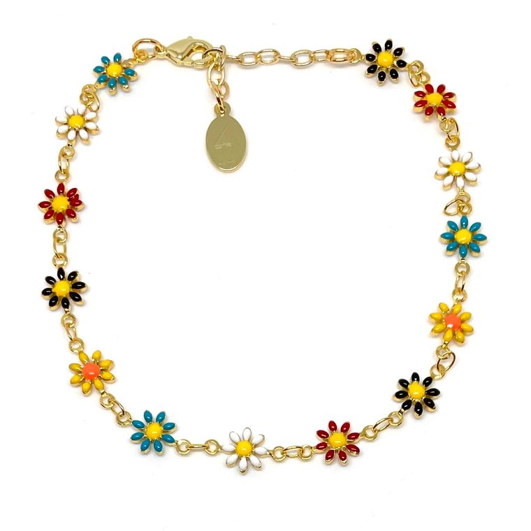 Daisy Multicolor Anklet