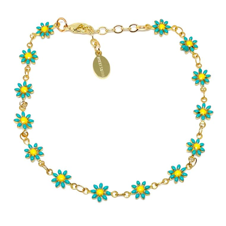 Daisy Mint Anklet