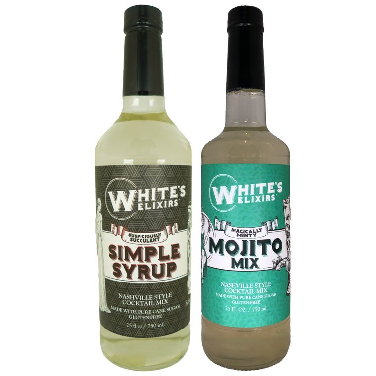 White's Elixirs Simple Syrup & Mojito Mix (6 Bottles Each)
