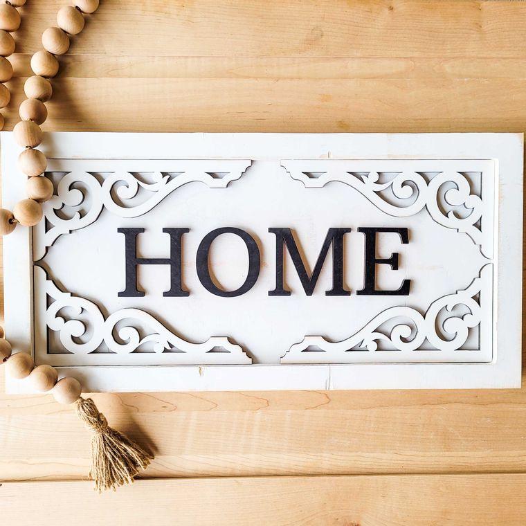 Home with ornamental corner decoration