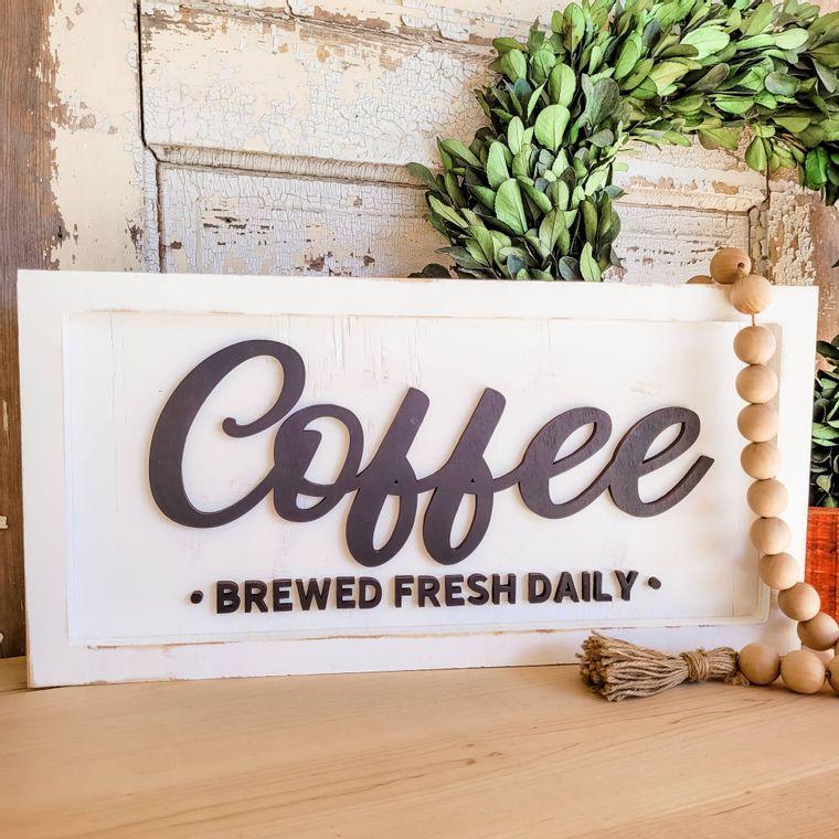 Coffee Brewed Fresh Daily