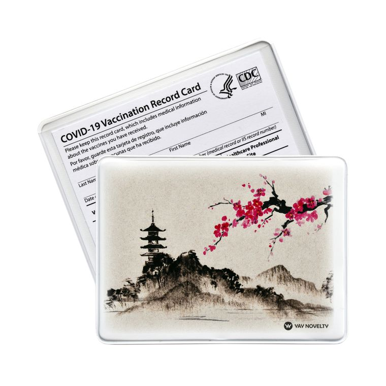 Vaccination Card Holder - Vaccine Card Protector - Made in USA - Oriental Mountain