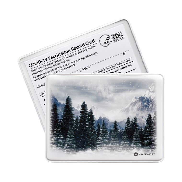 Vaccination Card Holder - Vaccine Card Protector - Made in USA - Evergreen