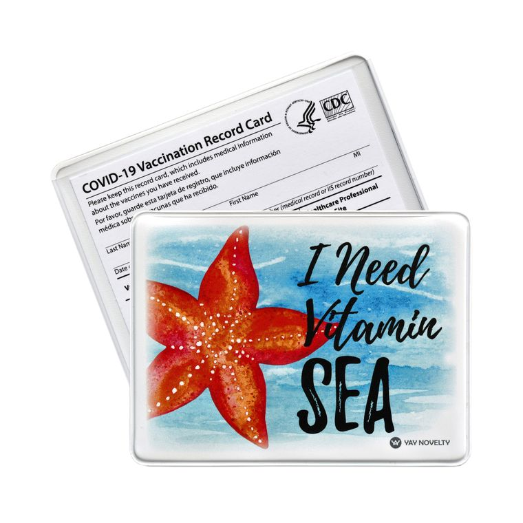 Vaccination Card Holder - Vaccine Card Protector - Made in USA - Vitamin SEA